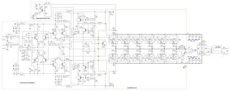 Принципиальная схема услителя мощности до 600 Вт.