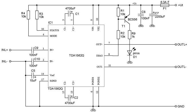 Схема включения TDA1562Q