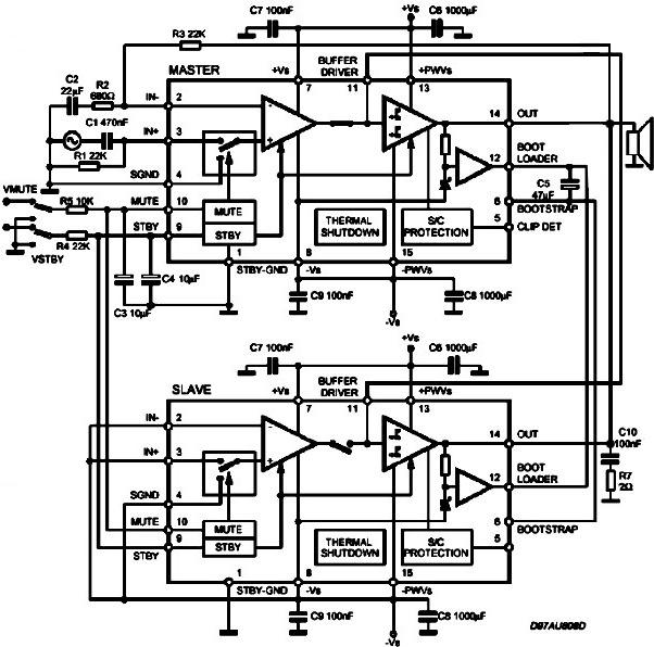 Параллельное включение TDA7293 - так включать можно только TDA7293!!!