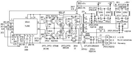 Электрооборудование схемы электропривода