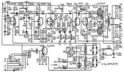 Принципиальная схема лампового усилителя мощности 8 Вт Н.Зыкова