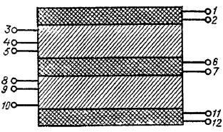 Расположение обмоток выходного трансформатора лампового усилителя мощности А.Баева