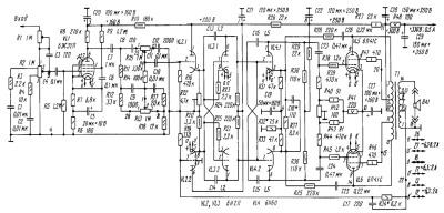 Принципиальная схема лампового усилителя мощности Е. Сергиевского