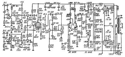 Принципиальная схема усилителя мощности А.Баева
