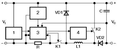 Структурная схема комбинированного стабилизатора