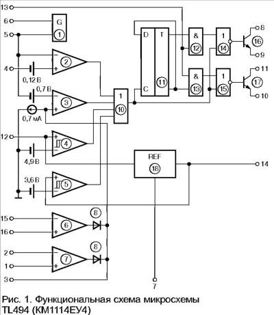 tl494 простая схема - Практическая схемотехника.
